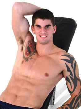 male muscle porn star: Tyler Torro, on hotmusclefucker.com