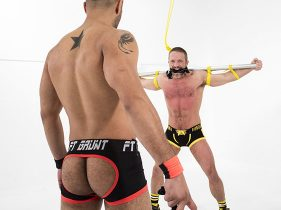 gay muscle porn clip: Leo Forte Flogs Dirk Caber - Dirk Caber & Leo Forte, on hotmusclefucker.com
